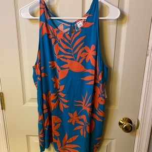 NWT: Old Navy: Blue and Coral Tropical Tank Top
